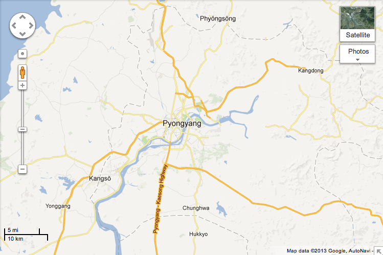 """Google has unveiled detailed maps of secretive North Korea on its Google Maps website."" http://www.ibtimes.co.uk/articles/429157/20130129/google-maps-north-korea.htm"