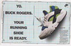 Some vintage Nike Air Huarache ads via crookedtongues.com