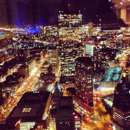 #boston at night from prudential center  #skyline #chicago