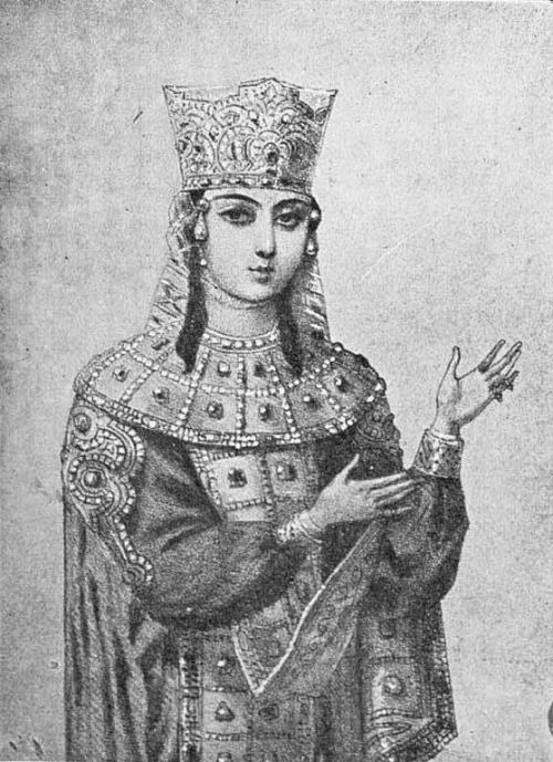 Queen Tamar of Georgia. Ruled the Kingdom of Georgia from 1184-1213. Even though her father left her the throne, a lot of her counselors were wary about having a woman rule, so they picked out a husband for her - Yuri, Prince of the Rus' (Russia). She complied, but when he started getting drunk and abusing her, she called off the marriage and kicked him out of Georgia. He came back with an army to try and overthrow her, but she and her armies beat them to a pulp and sent them packing.  A lot of neighboring countries tried to invade, actually, because they thought that a woman leader was a sign of weakness.  She showed them otherwise.  She expanded the Kingdom of Georgia to its largest size, created a Golden Era of peace in which the greatest Georgian poetry and art was created, and eventually married her friend and equal, David Soslan, prince of Alan.  She was incredible, guys.