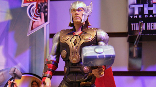 Puny god! Video of Thor: The Dark World at Toy Fair here!