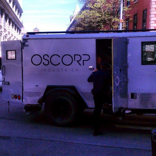 Checking out the amazing spider 2 filming… #spiderman #marvel #oscorp #comics #me #photography #movie #newyork #rochester