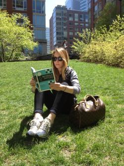 It's a gorgeous day, go outside and read [my book]!!