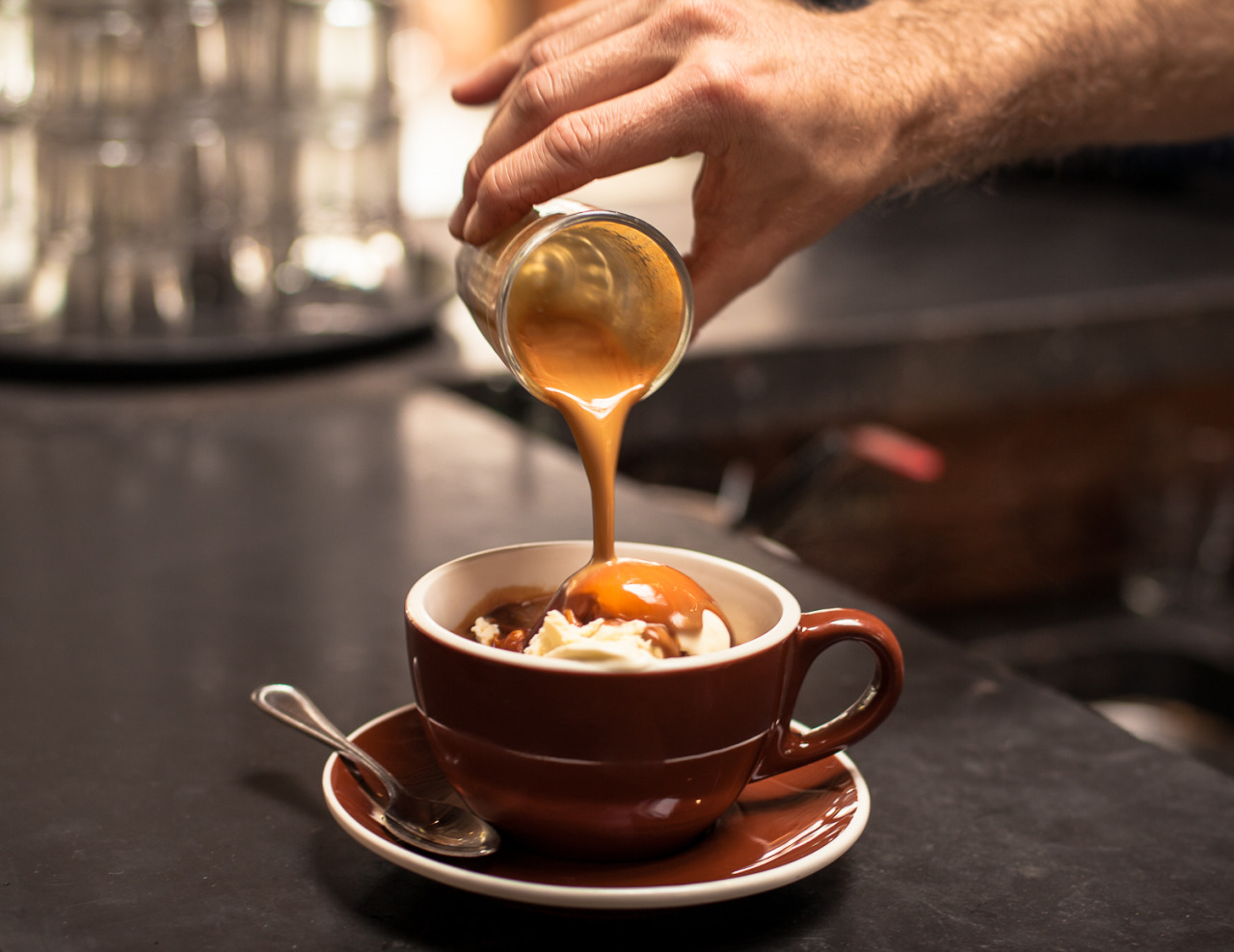 nirajrai:  Affogato @ Four Barrel   dat's what i like…