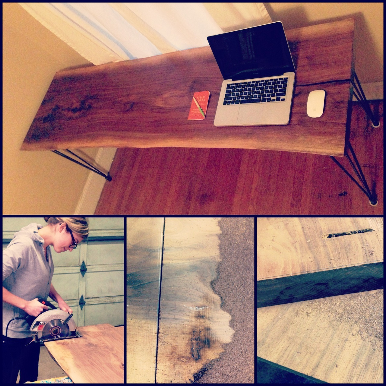 New desk! Sawed, sealed, delivered, I'm yours.