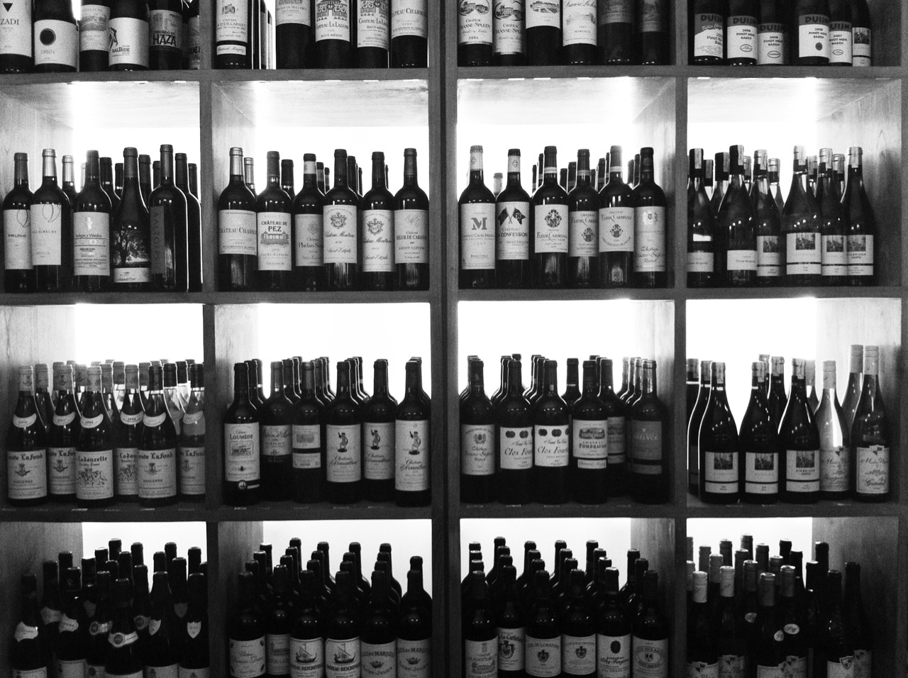 Lots and lots of wine. Too bad I don't really like it that much.  Taken with Click! App, processed with Snapseed.