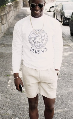 blackfashion:  Versace, Zara, Marc jacobs  Narid isaac