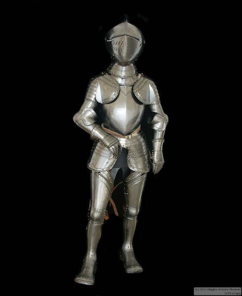 the-wicked-knight:  Artifact Type: Ceremonial armor for a child after the French style of about 1580-90  Date: 1800s  Region: France or United States Armors were sometimes made for the sons of important nobility. Their use indicated great social standing and wealth, and authentic examples are quite rare. These youths did not go to war, but in being prepared for a military career, were often provided with appropriate equipment. Such armors, which often matched those of the father, would have been worn for festive ceremonies, including mock battles.