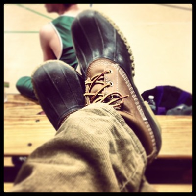 preppycollegeguy:  summersinnewport:  #beanboots  Propped up