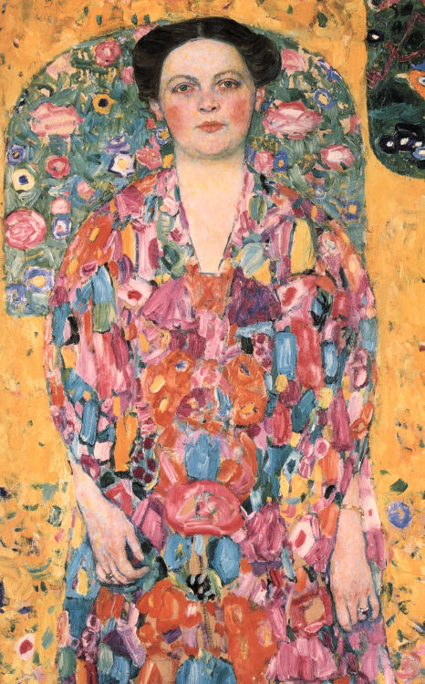 "tierradentro:  ""Portrait of Eugenia Primavesi"", 1913, Gustav Klimt. (via)"