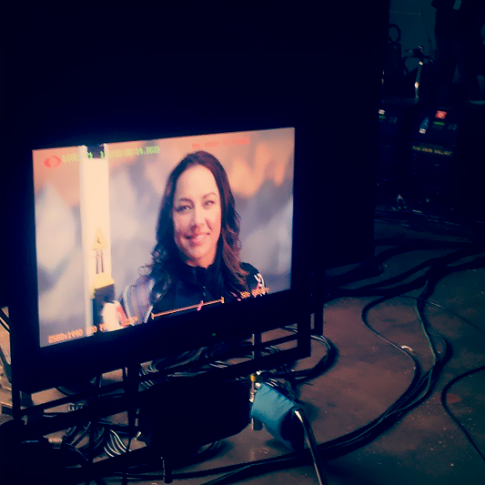 US Paralympic alpine skier Alana Nichols at NBC Studios for Road to Sochi promo shoot.