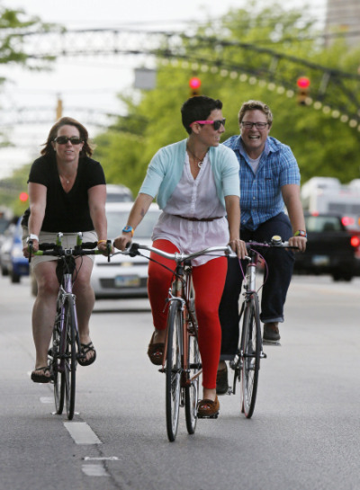 Today, the Ohio Women's Bicycling Summit hopes to encourage more women to get outdoors and ride bicycles, despite the many barriers that organizers say have dissuaded women from biking in the past. Speakers include Ohio first lady Karen Kasich and Rep. Teresa Fedor, D-Toledo. Visit Dispatch.com for more information and registration details. Photo by Dispatch photographer Eric Albrecht