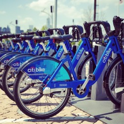 bikenyc:  Citi Bike preview. #citibike #bikenyc  Bike share. It's a thing.