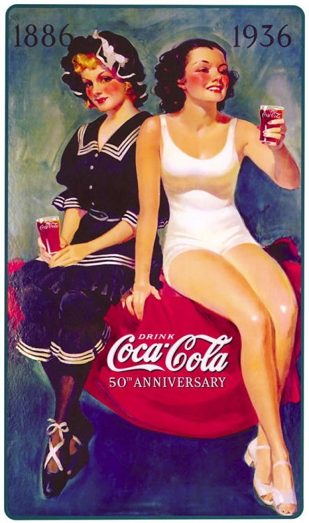 christinerod:  coca cola anniversary illustration 1936