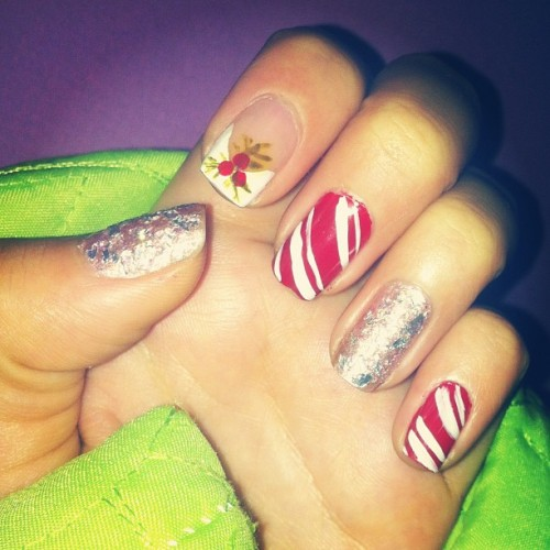 #nail #christmass #red #art