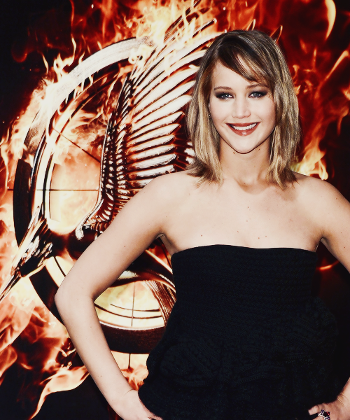 "ennobaria:  Jennifer Lawrence at ""The Hunger Games: Catching Fire"" photocall - The 66th Annual Cannes Film Festival"