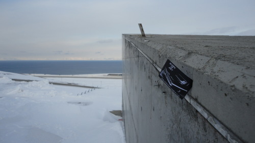 'Mark 13 Art' at the Svalbard Global Seed Vault. 78 degrees 13 North.