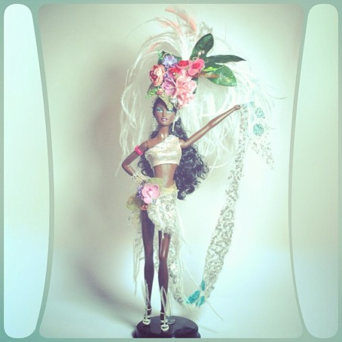 @bobmackie here is my Barbie 💙💙💙 hope u like it #mackiebrazilstyle @barbiecollector #barbie #Brazilian #brazil #samba @rupaul #style #custom #couture #doll #giveaway #contest