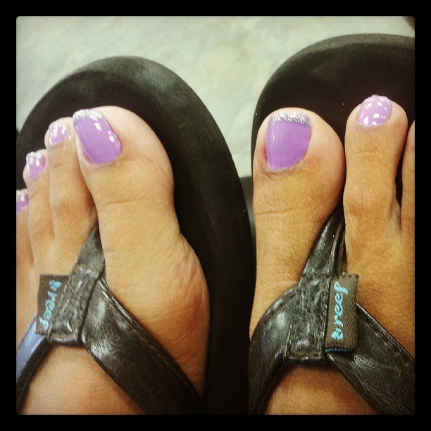 Yay for pedicures! #nails #loveessie  (at Lee Nails)