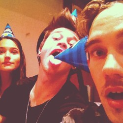"Dave's instagram ""Fun with party hats @reecemastinofficial @rhiannonmfish"""