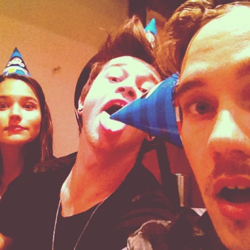 "lilrockersgohard:  Dave's instagram ""Fun with party hats @reecemastinofficial @rhiannonmfish"""