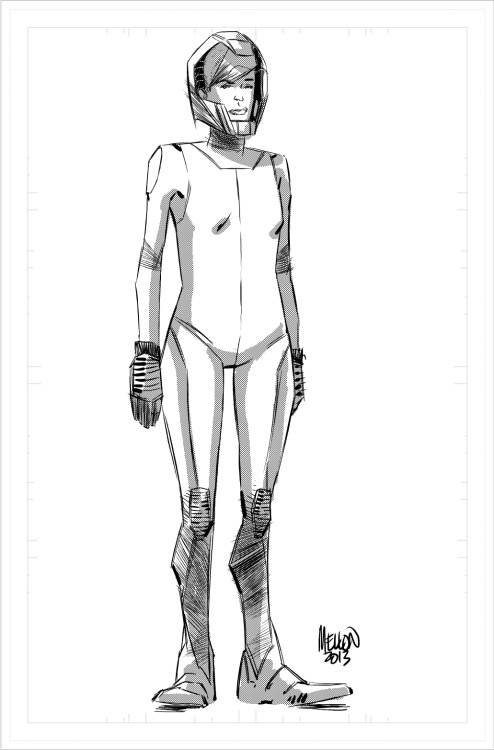 Space Suit Girl Done in Manga Studio EX4