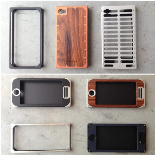 thisisedit:  New #EXOvault iPhone 5 & 4 cases just arrived! Loving the new Copper finish! (Top middle) #iphone #thisisedit @thisisedit  (at edit.)  Metal, and they actually do their primary job.