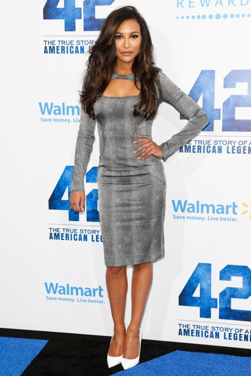 fuckyeahhotactress:  Naya Rivera - '42' premiere in Hollywood 4/9/13