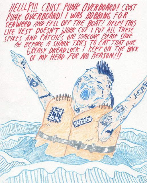 viviandemilo:  heylittlejess:  willlaren:  Crust Punk Overboard on Flickr.