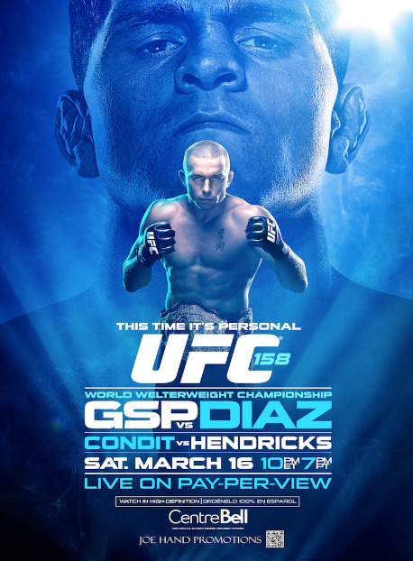 Watch UFC 158 with us Saturday March 16th!