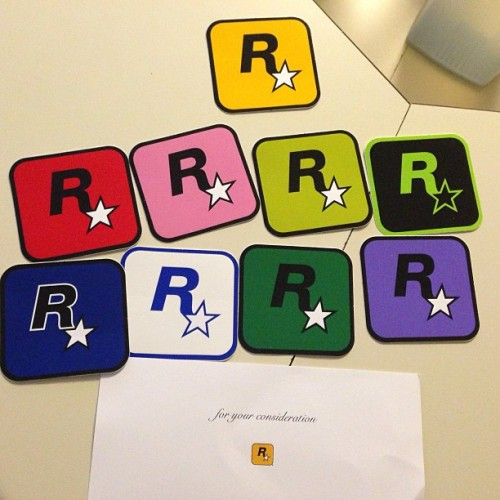 Rockstar games hooked me up with some stickers :)