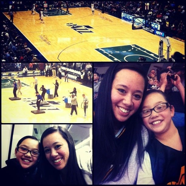 Took my sister to the game tonight! #JazzVsCavaliers #Row22 #StreetBeats #Trax #PicFrame
