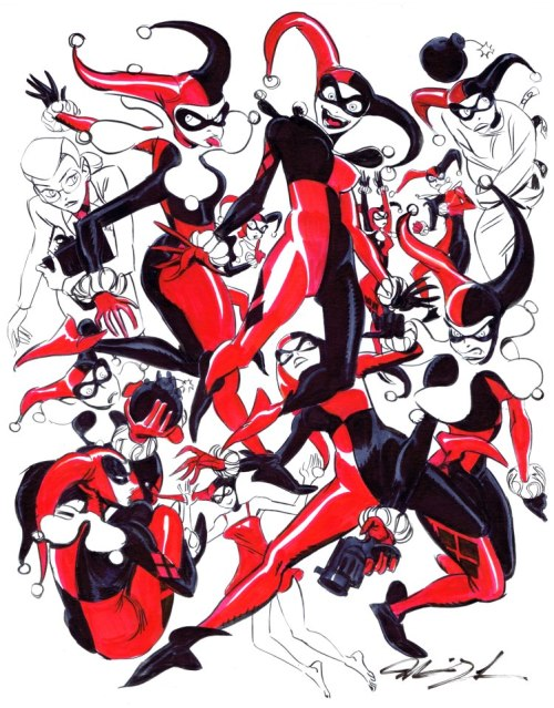 xombiedirge:  Harley by Mindy Lee   All the Harley's!!