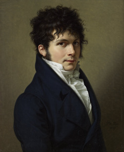 thevictorianduchess:  Portrait of a manFrancois-Xavier FabreOil on canvasc. 1809