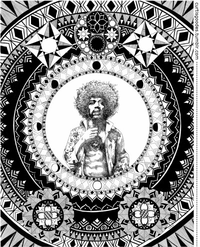 curtisgoodes:  Voodoo Child Going up at the Soul Power exhibition this weekend at Vancouver's Jimi Hendrix Shrine.T-Shirts (Available Soon!) RUM BUSINESS