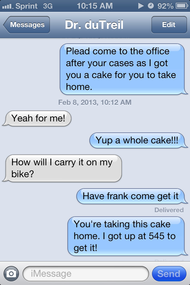Yup. This is how my boss and I talk to each other. I love him!