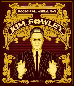 Kim Fowley has a new poster created by, Tim Smith….the genius who does Art & Graphics for Howie Pyro/Intoxica. I've invited him to capture Snow Mercy…in all her Fetish Fashion splendor. Maybe some day he'll do wedding announcements & or baby shower bulletins…for Hollywood's Newest Power Couple!