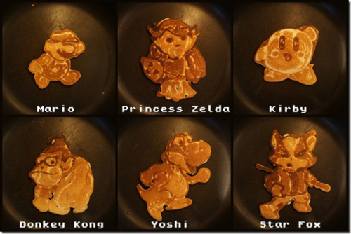 Gaming Pancakes (via http://www.gameinformer.com/b/news/archive/2013/01/26/video-game-themed-pancakes-look-too-good-to-eat.aspx)