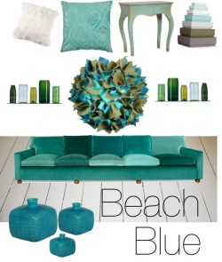 "Beach blue door rebelleshevanny op PolyvoreSoffa 3031 5-sits | Svenskt Tenn, $7,460 / Josh Urso Design Puff Light / Floral Top Cabriole Side Table / Artificial - Maurer Vases set, $195 / Andora Pillow 26"" - Aquamarine / Hay Box Box Small (Set of 7) / Blue Square Vase; 6.9"" height / Cushions - Bedroom - Danmark, $6.87"