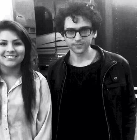 me and ben omfg edit: He was so chill and he had such a lovely smile and i miss this moment, it was honestly the best.