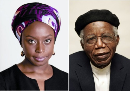 Chimamanda Adichie pens an elegy to Chinua Achebe in Igbo  Ife mee, Nnukwu ife mee, Chinua Achebe anabago, Onye edemede nke di, Egwu, onye nnukwu uche, onye obi oma, Keduzi onye anyi ga-eji eme onu? Keduzi onye anyi ga-eji jee mba? Keduzi onye ga-akwado anyi? Ebenebe egbu o! Anya mmili julu m anya, Chinua Achebe, naba no ndokwa, O ga-adili gi mma, Naba na ndokwa. English translation by Adaure Achumba Something has happened Something big/grave has happened, Chinua Achebe is gone. A great writer, a man of great wisdom, a man with a good heart. Who shall we brag about? Who are we going to tell the world about/take to other lands? Who will guide us? A storm has passed/a catastrophe has happened. Tears fill my eyes. Chinua Achebe rest in peace, It shall be well with you. Rest in peace. This piece was published on Adaura Achumba's website.
