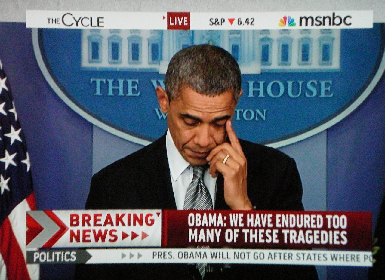 brooklynmutt:  President Obama tears up while talking to the nation about the school shooting today in Connecticut  Watch