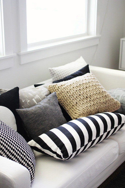 Most comfortable couch in the world, or too many pillows?