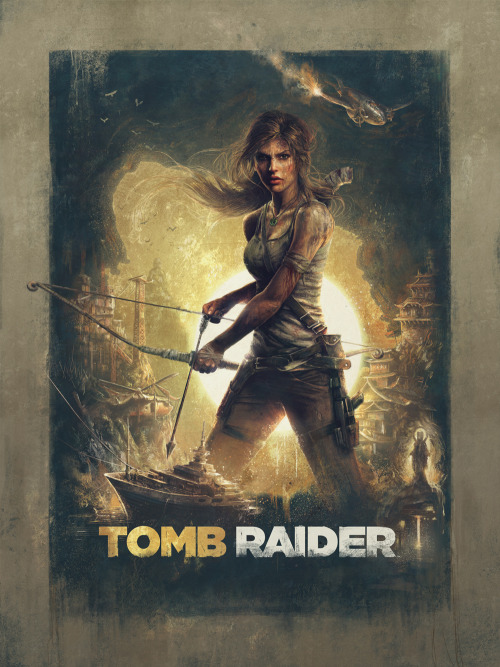 """Tomb Raider"" - Illustration by Sam SprattOfficial illustrated poster commissioned by Crystal Dynamics and Square Enix to promote the upcoming game for global print, covers, and a special gold-foil variant just for the developers. There'll be more info soon on when and where you can get your hands on the 18""x24"" poster and I'll have some fun behind the scenes pics on its creation in the near future.Huge thanks to Alex Ruby, Joey L, and Caleb Adams."