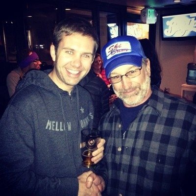 Only in #Aspen, @ryanamirault meets Steven Spielberg! (at Aspen Brewing Company)