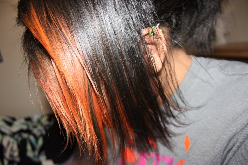 my hair is orange now :3