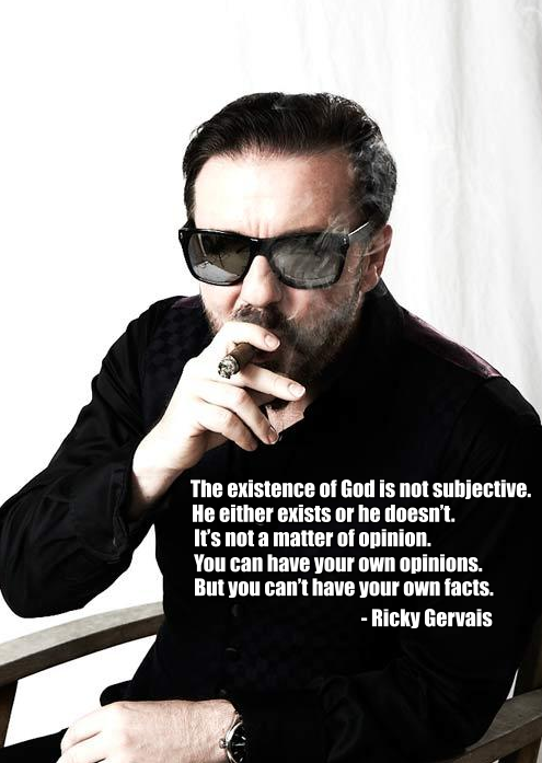 proud-atheist:  The existence of God is not subjective… http://proud-atheist.tumblr.com