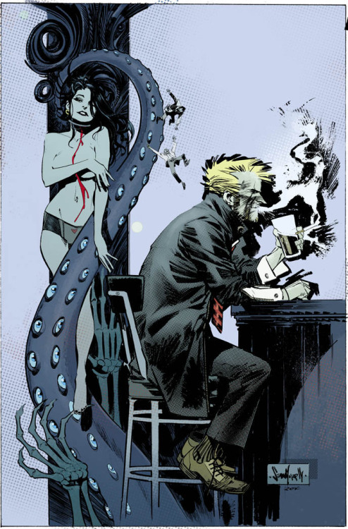 Hellblazer COD cover 5 colors by *seangordonmurphy