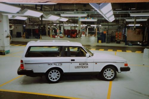 "The final 240 that rolled off the production line on May 5, 1993, was a highly unusual car- a special, wildly shortened wagon that its 240-bolaget builders built for fun and said represented Volvo's ""shortened lead times."" source: Hemmings blog"