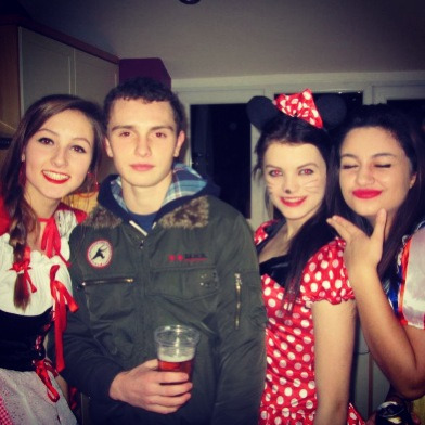 aw steph, oli, me and eleanor at disney party on friday x
